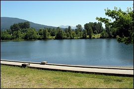 Coquitlam Canada : View of Lafarge Lake